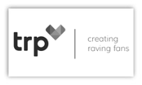 The logo for TRP (The Retention People)