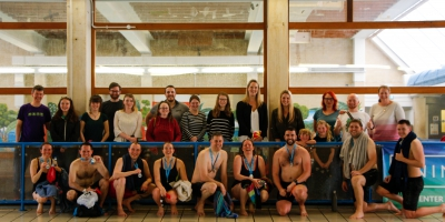 A pic of our Swimathon team, including family and friends!