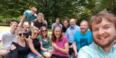 The CAP2 Team having lunch in the park on a warm summer's day!